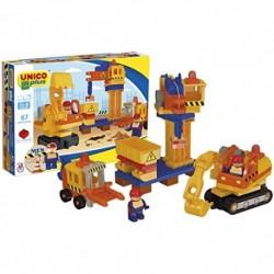 Unicoplus Cantiere di Mattoncini, Colore Giallo/Arancione/Blu, 8626-0000