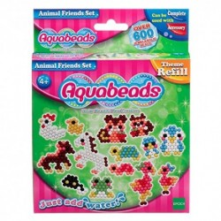 AQUABEADS ANIMAL FRIENDS SET 600 PERLE 9 COLORI