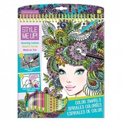 COLOR SWIRL BLOOMING FASHION SKETCHBOOK