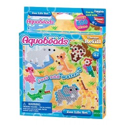 AQUABEADS ZOO LIFE SET 600 PERLE 13 COLORI REFILL