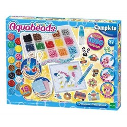 AQUABEADS DESIGNER COLLECTION 1000 PERLE 16 COLORI