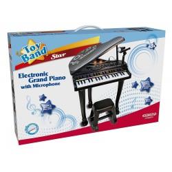 PIANOFORTE A CODA CON GAMBE E SGABELLO