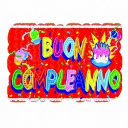 CART. CM 100*70 BUON COMPLEANNO