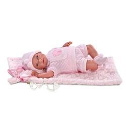 BAMBOAL NEW BORN CM. 36 CON TAPPETINO ROSA